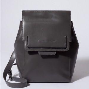 Danielle Nicole gray sleek leather backpack. Nice!